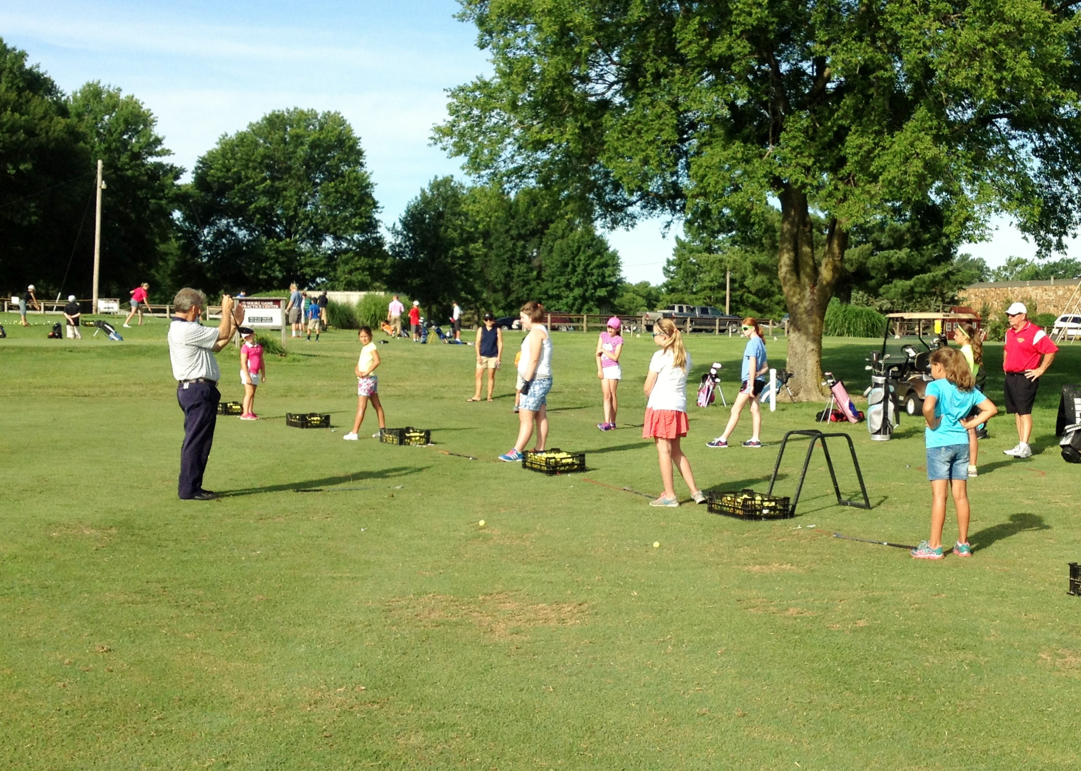 Junior Golfers on the range
