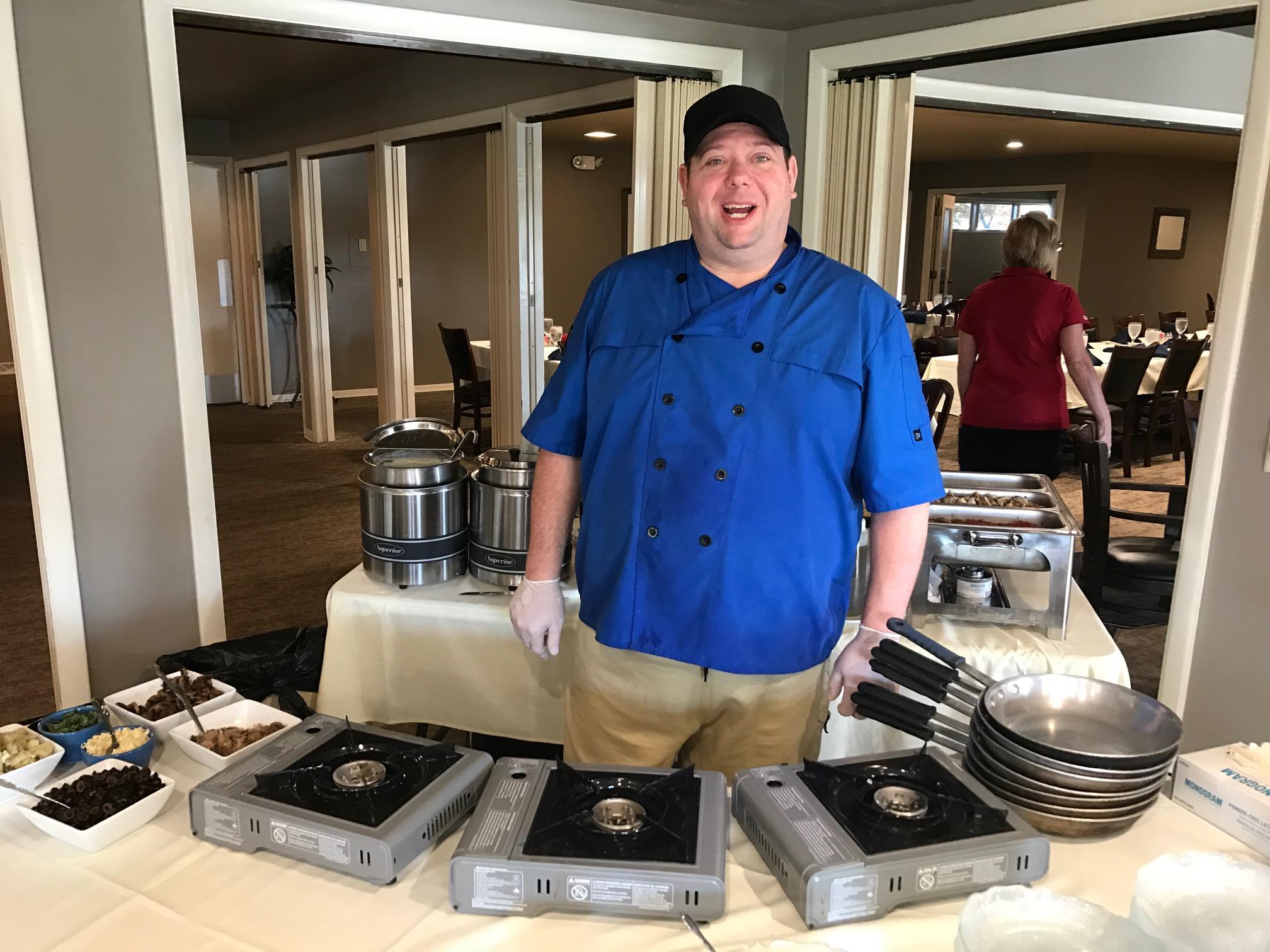 Chef Tom Ales Preparing Pasta to Order