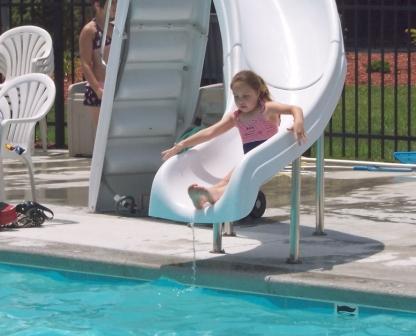 Kids really enjoy the pool slide!